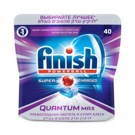 FINISH Таблетки для мытья посуды в посудомоечных машинах Quantum Max 40шт finish quantum блеск и защита 20 таблеток