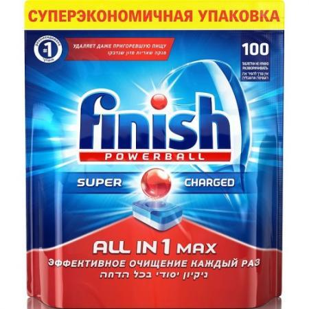 FINISH All in1 Max Средство для мытья посуды в посудомоечных машинах таблетки 100шт таблетки для посудомоечной машины finish all in 1 max 13 шт