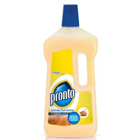 PRONTO Средство для мытья полов с миндальным маслом 750мл средство для мытья полов pronto 5 в 1 750 мл