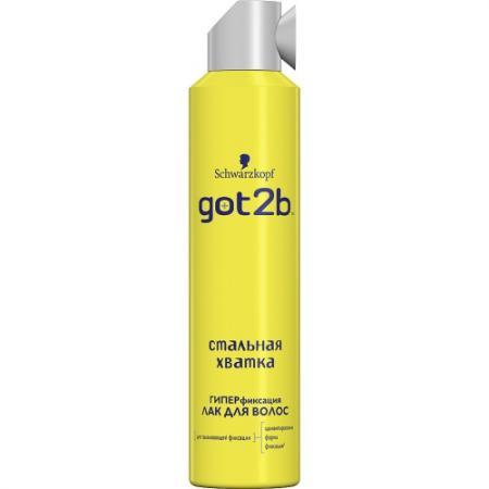 GOT2B Лак для волос СТАЛЬНАЯ ХВАТКА 300мл got2b лак для волос мегамания 300 мл