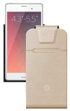 Чехол Deppa для смартфонов Flip Fold M 4.3''-5.5'' золотистый 87022 аксессуар чехол deppa flip fold s 3 5 4 3 grey 87016