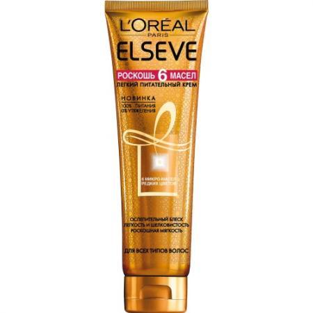 LOREAL ELSEVE Крем-масло для волос 6 масел 150мл l u0027oreal elseve питание и обогащение