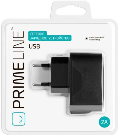 Сетевое зарядное устройство Prime Line 2310 2.1A USB черный сетевое зарядное устройство prime line 2302 micro usb 1a черный