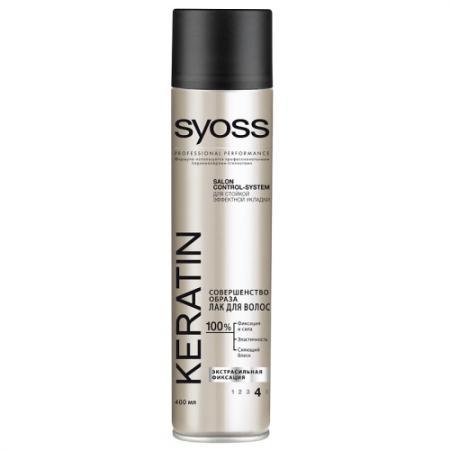 Лак для волос SYOSS Keratin 400 мл syoss volume lift лак для волос объем экстрасильная фиксация 400 мл