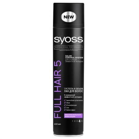 цена на Лак для волос SYOSS Full Hair 5D 400 мл
