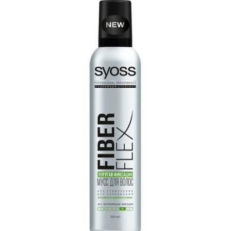 Syoss FiberFlex Упругая Фиксация мусс для волос экстрасильной фиксации 250 мл мусс для укладки syoss fiberflex volume упругий объем