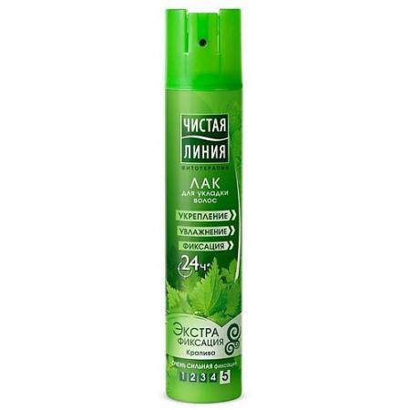 Лак для волос Чистая Линия Экстрафиксация  200 мл