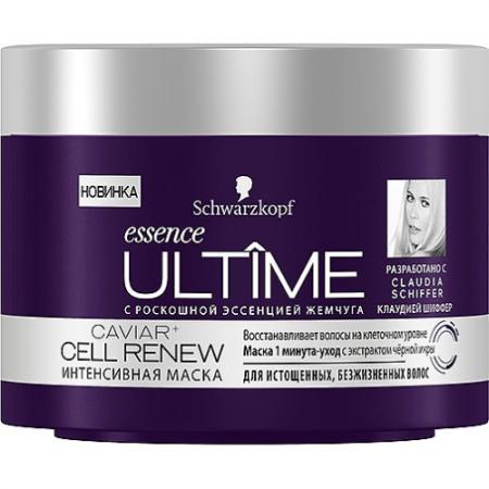Essence ULTIME CAVIAR CELL RENEW Интенсивная маска для истощенных безжизненных волос 200 мл маска мгновенная интенсивная для мультиповрежденных волос serin protein renew 7 250 мл