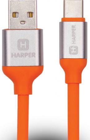 лучшая цена Кабель Type-C 1м Harper SCH-730 круглый оранжевый H00001633