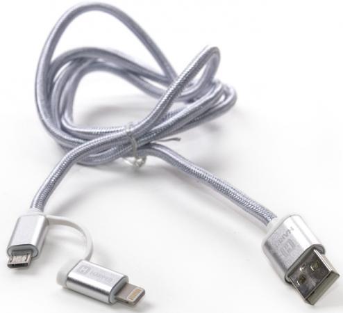 Кабель Lightning 1м Harper BRCH-410 круглый серебристый H00001360 кабель harper brch 410 silver