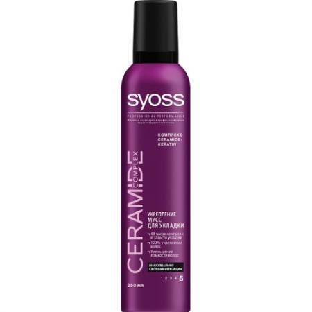 SYOSS Мусс для укладки волос Ceramide Complex Укрепление максимально сильная фиксация 250 мл косметика для мамы syoss texture текстурирующий спрей для укладки волос сильная фиксация 150 мл