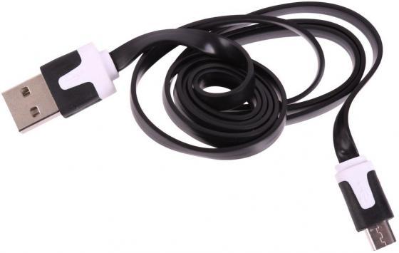 Фото Кабель microUSB 1м LP R0003928 плоский кабель usb lp microusb сирен