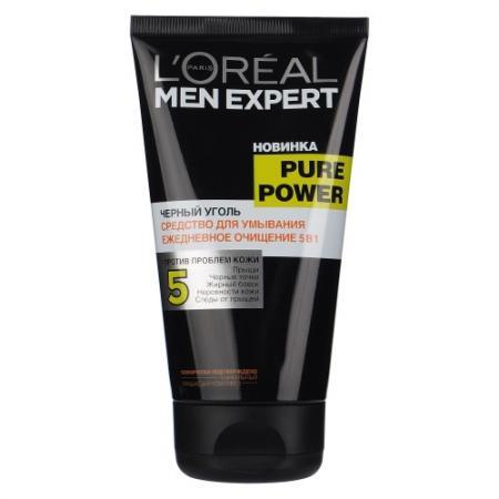 LOREAL MEN EXPERT Гель для умывания Пюр Пауэр Черный уголь 150мл loreal мужской