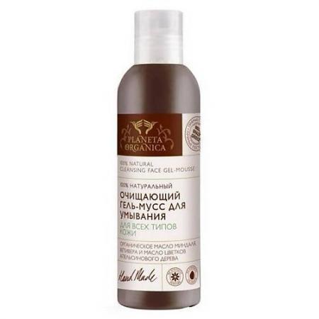 PLANETA ORGANICA Гель-мусс для умывания для всех типов кожи очищающий 200мл planeta organica молочко фито очищающее для сухой и чувствительной кожи 200 мл