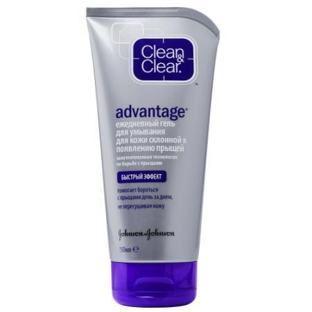 Clean&Clear Advantage Гель для умывания от прыщей 150мл