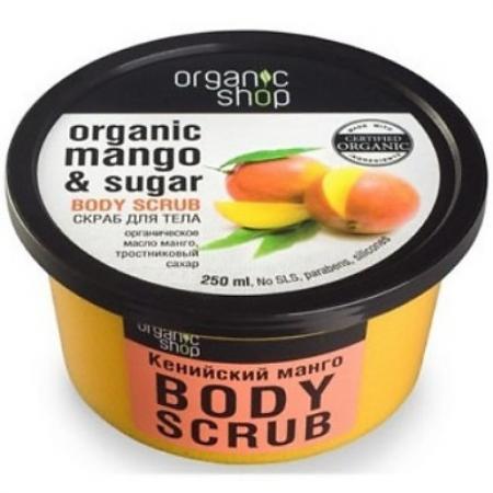 Organic shop Скраб для тела Mango 450мл organic shop organic shop скраб для тела colors of beauty бразильское манго 140 мл