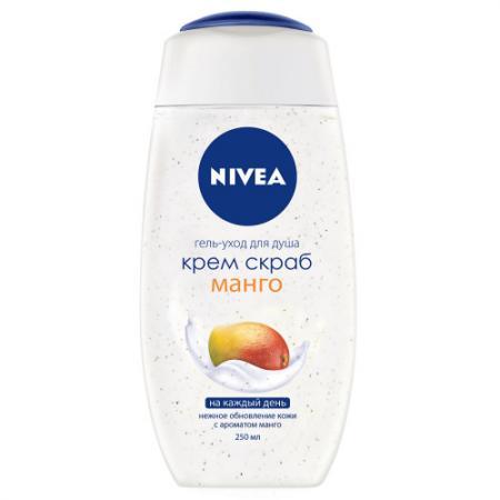 Nivea Крем-Скраб Манго 250мл гель д душа nivea крем абрикос 250мл