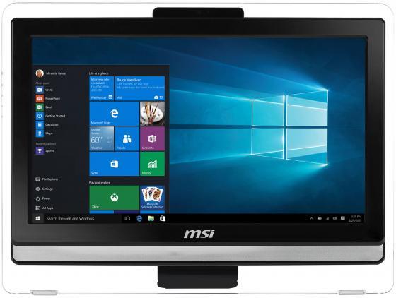 MSI Pro 20ET 4BW-201RU   19.5(1600x900)/Touch/Intel Pentium N3710(1.6Ghz)/4096Mb/1000Gb/DVDrw/Int:Intel HD/Cam/BT/WiFi/war 1y/black/DOS ноутбук msi gs43vr 7re 094ru phantom pro 9s7 14a332 094