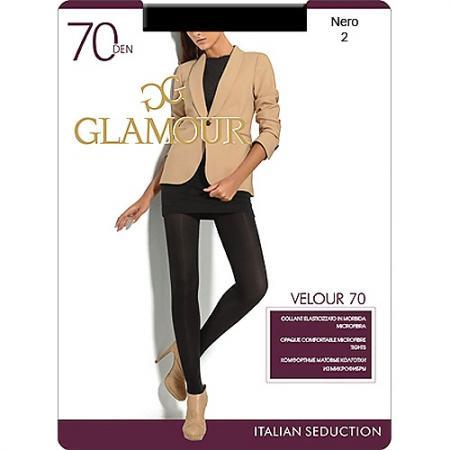 Колготки GLAMOUR Velour 2 70 den черный колготки glamour glamour gl302fwqky38
