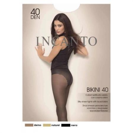 "Колготки INCANTO ""Bikini"" 4 40 den черный oodji 913nl004w 22707 7552o"