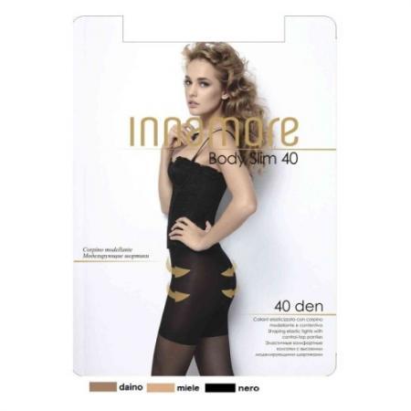 Innamore Колготки Body Slim 40 Nero, 2 innamore трусы innamore icd33181 basic lace ванильный