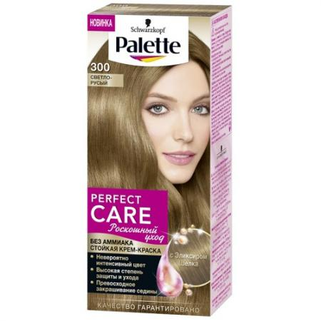 PALETTE PERFECT CARE крем-краска 300 Светло-русый 110 мл schwarzkopf professional краска для волос palette фитолиния без аммиака 25 оттенков 50 мл 900 черный 50 мл