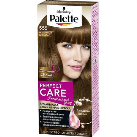 PALETTE PERFECT CARE крем-краска 555 Молочный шоколад 110 мл крем краска palette стойкая lrn5 красно каштановый 110 мл