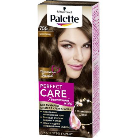 PALETTE PERFECT CARE крем-краска 755 Шоколад 110 мл крем краска palette стойкая lrn5 красно каштановый 110 мл