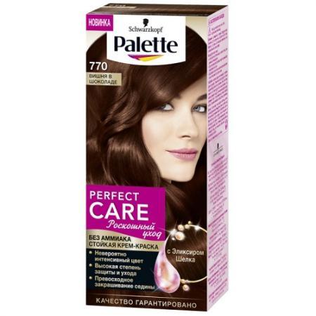 PALETTE PERFECT CARE крем-краска 770 Вишня в шоколаде 110 мл schwarzkopf professional краска для волос palette фитолиния без аммиака 25 оттенков 50 мл 900 черный 50 мл