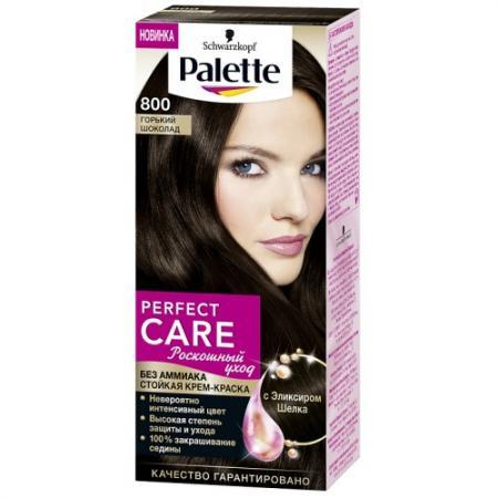 PALETTE PERFECT CARE крем-краска 800 Горький шоколад 110 мл краски для волос palette palette perfect care 555 молочный шоколад