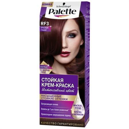 PALETTE Стойкая крем-краска RF3 Красный гранат 110 мл schwarzkopf professional краска для волос palette фитолиния без аммиака 25 оттенков 50 мл 900 черный 50 мл