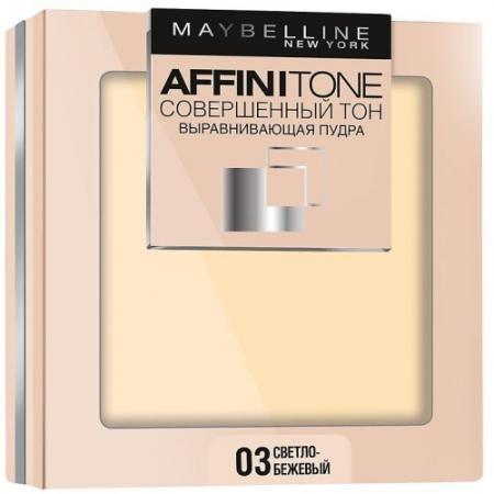 MAYBELLINE Компактная пудра выравнивающая Affinitone 03 светло-бежевый пудры parisa компактная пудра с минералами тон 07 натуральный бежевый