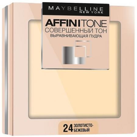 MAYBELLINE Компактная пудра выравнивающая Affinitone 24 золотисто-бежевый maybelline консилер для лица affinitone 2 3 г 4 оттенка консилер для лица affinitone 01 2 3 г 02 ванильный