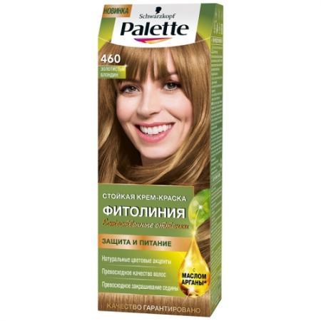 Palette ФИТОЛИНИЯ 460 Золотистый блондин 110 мл schwarzkopf professional краска для волос palette фитолиния без аммиака 25 оттенков 50 мл 900 черный 50 мл