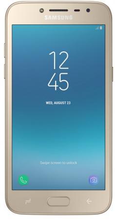 Смартфон Samsung Galaxy J2 (2018) золотистый 5 16 Гб LTE Wi-Fi GPS 3G SM-J250FZDDSER смартфон micromax q465 золотистый 5 16 гб lte wi fi gps 3g
