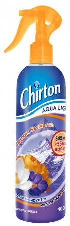 CHIRTON Освежитель воздуха водный Горная Свежесть 400мл полироль пластика goodyear атлантическая свежесть матовый аэрозоль 400 мл