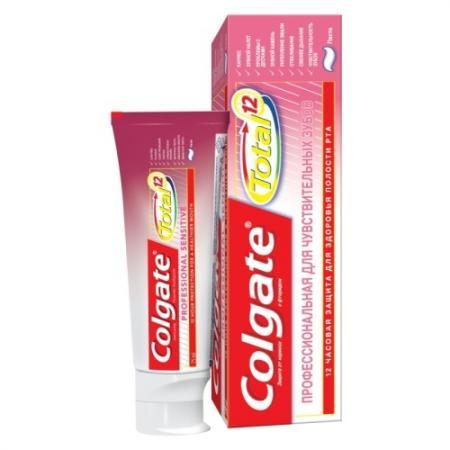 Зубная паста Colgate TOTAL12 Профессиональная для чувствительных зубов 75 мл CN03106A colgate зубная паста комплексная 12 pro здоровое дыхание colgate 75 мл