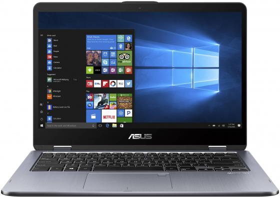 Ультрабук ASUS VivoBook Flip TP410UA-EC303T 14 1920x1080 Intel Core i3-7100U 1 Tb 8Gb Intel HD Graphics 620 серый Windows 10 90NB0FS1-M08370 ноутбук asus vivobook max x541ua 15 6 1366x768 intel core i5 7200u 1 tb 8gb intel hd graphics 520 черный windows 10 home 90nb0cf1 m16200