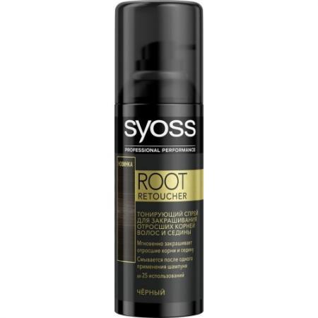 Syoss Root Retoucher Тонирующий спрей для закрашивания отросших корней и седины Черный