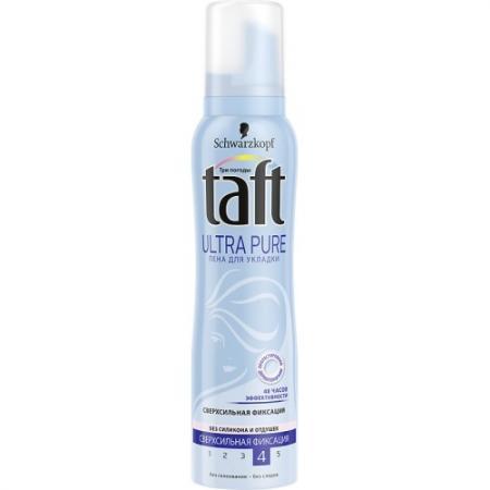 Пена для укладки волос Taft пенка Ultra Pure 150 мл color wow спрей для укладки волос 2в1 укрепление гибкая фиксация 150 мл
