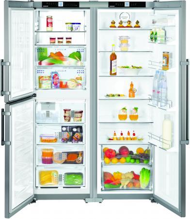 Холодильник Side by Side Liebherr SBSEF 7343 серебристый холодильник side by side samsung rs57k4000sa