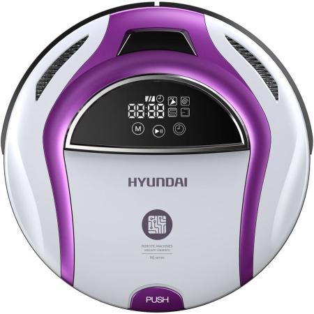 Робот-пылесос Hyundai H-VCRQ70 сухая влажная уборка белый фиолетовый цена и фото