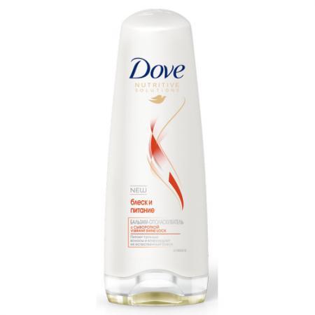 Бальзам Dove Nutritive Solutions. Блеск и питание 200 мл 67069539 бальзам ополаскиватель контроль над потерей волос dove 200 мл