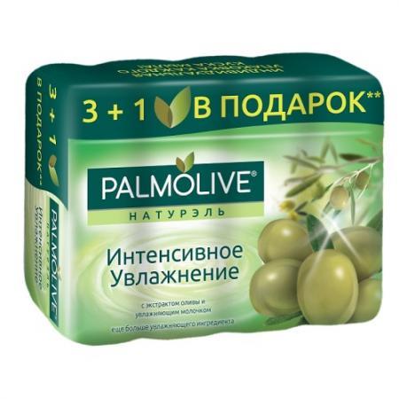 ПАЛМОЛИВ Мыло Интенсивное Увлажнение с экстрактом оливы и увлажняющим молочком 4*90г palmolive мыло роскошная мягкость с экстрактом орхидеи 90 г