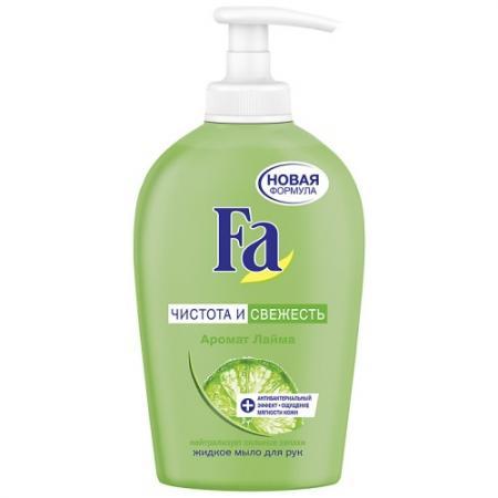 Мыло жидкое Fa Чистота и Свежесть 250 мл косметика для мамы fa жидкое мыло чистота и свежесть лайм 250 мл