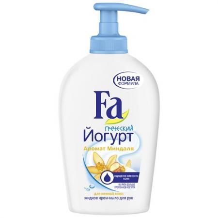 Мыло жидкое Fa Греческий йогурт - Миндаль 250 мл вкуснотеево йогурт с вишней 3 5