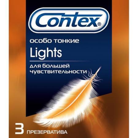 CONTEX Презервативы №3 Lights особо тонкие