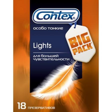 CONTEX Презервативы №18 Lights особо тонкие