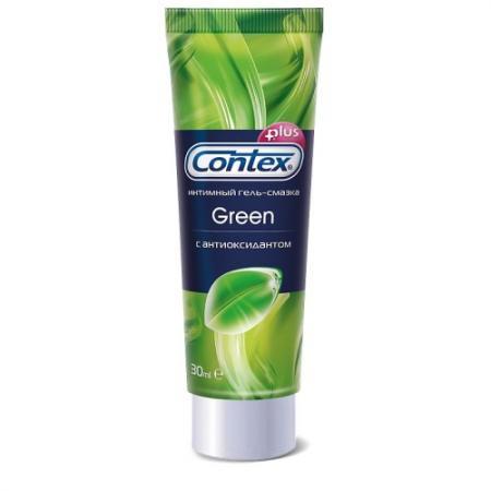 CONTEX Гель-смазка интимный Plus Green с антиоксидантами 30мл
