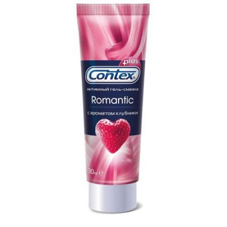 CONTEX Гель-смазка интимный Plus Romantic с ароматом клубники 30мл